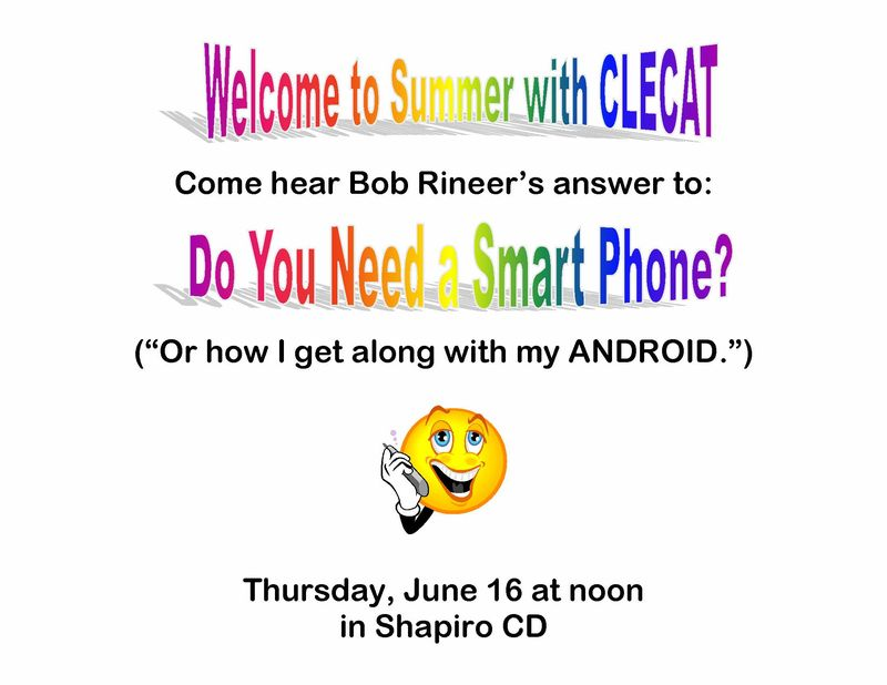 Come hear Bob Rineer